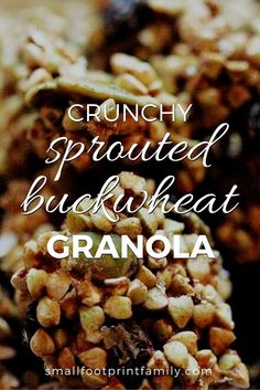 Boxed cereals are processed foods that contain almost no nutrition at all (unless they are sprayed with synthetic vitamins—yuck!). This sprouted buckwheat granola recipe is a truly healthy, whole food breakfast cereal alternative. #primal #glutenfree #dairyfree #vegan #vegetarian #rawvegan #buckwheat #grainfree #realfood
