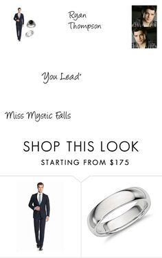 """""""Ryan Thompson Worlds Colliding (The Vampire Diaries) 8.09 """"You Lead"""""""" by mysticfalls1997 ❤ liked on Polyvore featuring Kenneth Cole Reaction, Dallas Prince, men's fashion and menswear"""