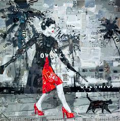 The Art of Directing Randomness - Florida artist Derek Gores pieces together recycled magazine bits and labels to create collage portraits.