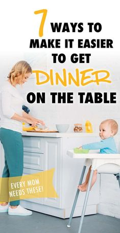 7 ways to make it easier to get dinner on the table. These are some seriously clever mom hacks that will make it so much easier to get dinner on the table when you're juggling a baby and maybe a toddler as well. Mom Hacks, Life Hacks, Life Tips, Mom Advice, Parenting Advice, Healthy Kids, Get Healthy, How Do You Stop, All About Mom