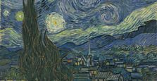 This is a tribute to Dutch post-impressionist painter Vicent Van Gogh and his famous The Starry Night I've been working on this one for a while, and ended up hand painted the extended surroundings outside of the original area. Vincent Van Gogh, Museum Of Modern Art, Art Museum, Google Art Project, Virtual Art, Art Google, Painting Inspiration, Online Art, Fiber Art