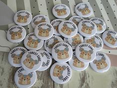 Forest Cubs - custom bear badges Custom Badges, Custom Buttons, School Badges, Badge Design, Tribal Patterns, Button Badge, How To Make Buttons, Brown Bear, Design Your Own
