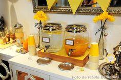 festa amarela e cinza para cha de bebe - Pesquisa Google
