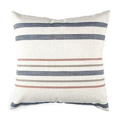 Homier Striped Linen Blend Decorative Throw Pillow Case Cushion Cover - Nautical Narrow Stripe - Navy Blue/Maroon Red/Olive Green/White - Large, 20 x 20 Inches Homier http://smile.amazon.com/dp/B01884HY44/ref=cm_sw_r_pi_dp_r.5Uwb1N5K7R4