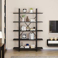 Book Storage, Storage Rack, Bookshelves, Bookcase, How To Waterproof Wood, Book Holders, Living Spaces, Living Room, Blank Walls