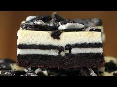Cookies & Cream Brownie Cheesecake Bars - YouTube