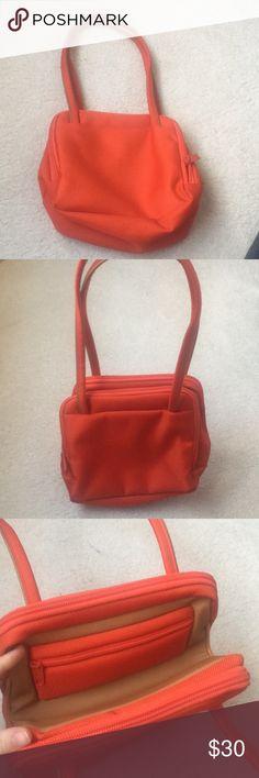 Small handbag-Italian fashion Bright orange and barely used handbag from Mandarina Duck—a high fashion Italian brand mandarina duck Bags Mini Bags