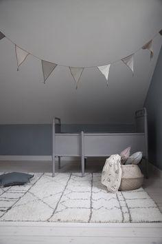 Grey on grey kids room. @littledreambird