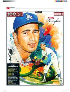 Sandy Koufax 100 Leyendas del Deporte / 100 Sports Legends by Jesús R. Sánchez, via Behance