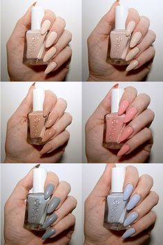 Essie Gel Couture Ballet Nudes collection - perfect spring nail colours.