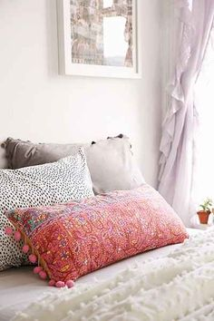 Plum & Bow Pila Kantha Pillow - Urban Outfitters