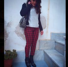 New outfit on www.ivanavitabile.com #outfit #saturday #tartan #chanel #chanelbag