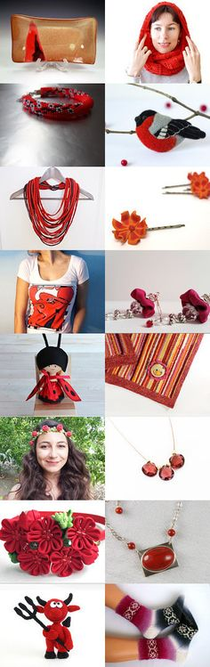 Red gifts by Ivana Kristina on Etsy--Pinned with TreasuryPin.com