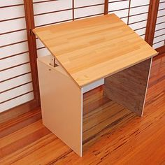 Cheap drafting table made from plywood
