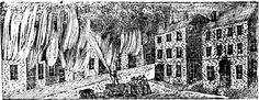Engraving of the 1813 Christmas Fire in Portsmouth