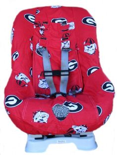 New infant car seat carrier cover w/ university of georgia bulldogs