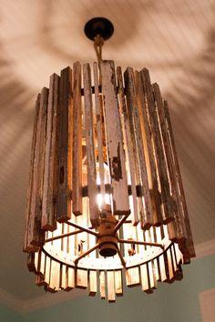 handmade light fixture - think outside the box... for your foyer light