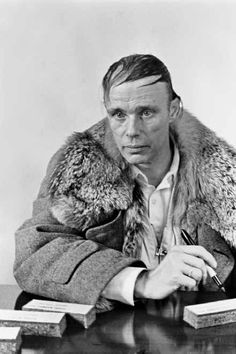 joseph beuys.  I used this image in a 2d project in design school in 1998.  I liked it because he weirded me out.  He still does.