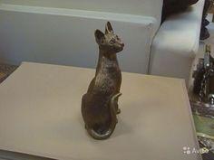 Статуэтка бронзовая корн рекс кот Литье бронза кот 120-70-50 (мм) купить в Челябинской области на Avito