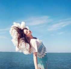 Wake Me in Another World by Audrey Simper, via Behance clouds, photographi inspir, photographs, head caught, dream, art, audrey simper, fashion photographi, portraits