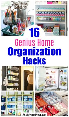 16 Genius Home Organization Hacks- It doesn't have to cost a lot to get your home organized! For some frugal organizing ideas, check out these 16 genius home organization hacks! Organization Station, Small Space Organization, Home Organization Hacks, Closet Organization, Closet Hacks, Storage Hacks, Diy Storage, Storage Ideas, Organizing Hacks