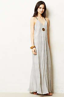 Anthropologie - Pinstriped Maxi Dress