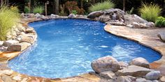 Blue Hawaiian Fiberglass Pools and Spas | Freeform