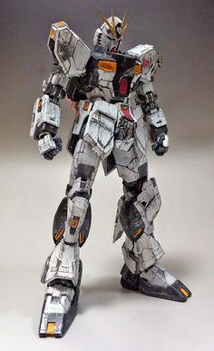 GUNDAM GUY: MG 1/100 Nu Gundam Ver. Ka vs. Sazabi Ver. Ka 'Final Fight' - Diorama Build (GBWC 2014 Entry)