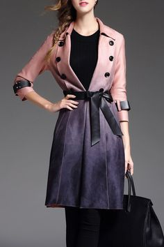 Ombre Wrap Skirted Coat
