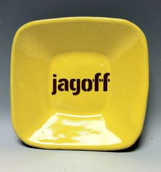 LOVE THIS!! Jagoff Pittsburgh Pottery Square Dish by PittsburghPottery on Etsy, $16.00