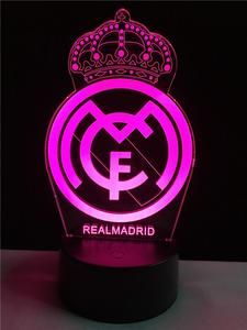 Real Madrid logo LOGO touch 3D colorful Nightlight lamp – 3D Optical Lamp Imagenes Real Madrid, Real Madrid Logo Wallpapers, Equipe Real Madrid, Ronaldo Juventus, Cristiano Ronaldo, Poster Background Design, Neon Logo, 3d Light, Night Light