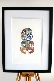 11 Post Studio make amazing kiwi inspired art pieces from card cutouts, stencils and old New Zealand postage stamps.