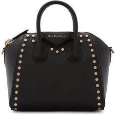 Givenchy Black Mini Studded Antigona Bag ( 2 5ef6b71a7c140