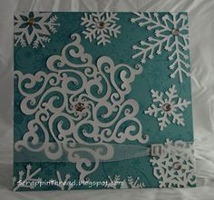 silhouette cameo cards   Paper and Fiber Arts: Silhouette Cameo Snowflakes Card - No Patterned ...