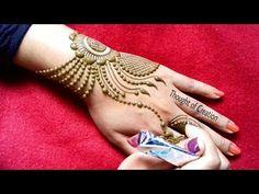 Half Mandala Leg Mehndi design |Easy Simple Henna Mehendi Pattern - YouTube