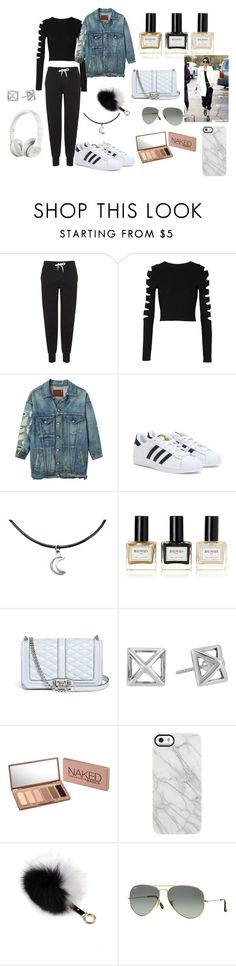 """""""sweatpant couture"""" by nataliew16 ❤ liked on Polyvore featuring Topshop, Cushnie Et Ochs, R13, adidas, Balmain, Rebecca Minkoff, Urban Decay, Beats by Dr. Dre, Uncommon and Adrienne Landau"""