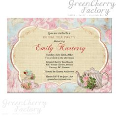 Baby Shower Invitation Backgrounds Free Classy Baby Shower Tea Party Invite Invitation  Vintage Peach Background .