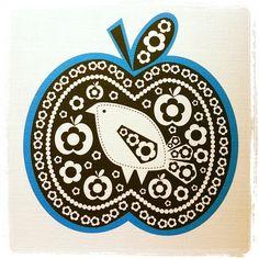 apple/bird print