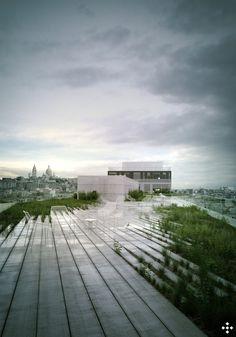 bureaux // Hardel Lebihan architectes ... inspiration de la high line NY, non? image rsi-studio