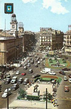 Puerta del Sol en el año 1970, Madrid