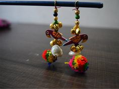 Handmade Tribal Gypsy Cotton decorative tassels, decorating supplies and Bells Tassel / PomPom / Camel swag / Embellishment  Multicolor Color Banjara Style Handmade Authentic Accessory. It is made with pom-poms and beads. You will look lovely wearing this accessory and finished your look with this amazing thing!  These stunning Tassels can be used for: ➤ wedding dress decoration, festive wear ➤sari hanging, ➤blouse hanging, ➤ salwar kameez latkan, ➤ tops, dresses, ➤Indian wedding trousseau…