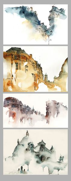Watercolor Paintings by Sunga Park