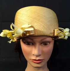 Vintage Mr John Jr Hat Unusual with Ribbons and Flowers | eBay
