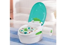 Is your kiddo ready to leap into potty training yet? Step-by-Step Potty is a complete potty training system and stepstool in one.