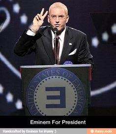 The only way I'd ever vote for a president...