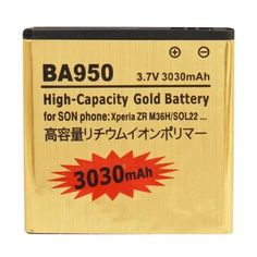 BA950+3030mAh+High+Capacity+Gold+Business+Battery+for+Sony+Xperia+ZR+/+M36h