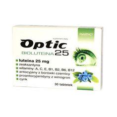Optic Bioluteina 25 x 30 tablets, luteina bio complex, luteine