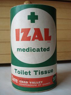 Izal toilet paper, hard and nonabsorbent! My grandparents had this at their house, we used to sneak our own soft toilet roll in to use