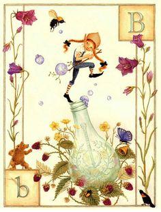 Lauren Mills - Elfabet illustration