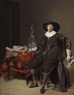 De afbeelding hierboven toont het schilderij Portret van een zilversmid door Thomas de Keyser. Het kunstwerk is geschilderd in 1630.